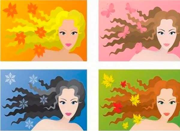 Цветотип внешности: зима, весна, лето, осень. Как разобраться