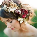 Венки и ободки из цветов: свадебные и праздничные варианты украшения волос