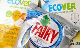 Ecover – Натуральный порошок для мытья посуды,  средство для мытья посуды в капсулах Fairy All in 1. Отзыв