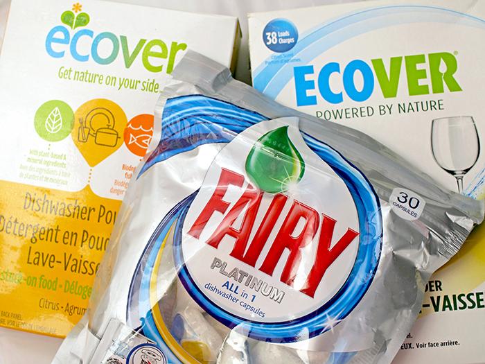 Ecover - Натуральный порошок для мытья посуды, средство для мытья посуды в капсулах Fairy All in 1. Отзыв