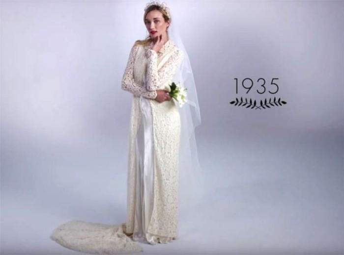 Трансформация свадебных платьев за последние сто лет