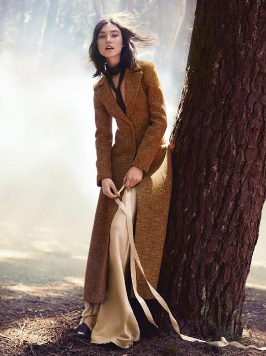 С чем сочетать пальто в пол
