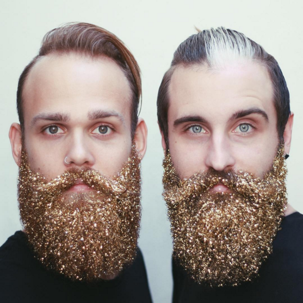 Борода в глиттере: как украсить мужчину на Новый год