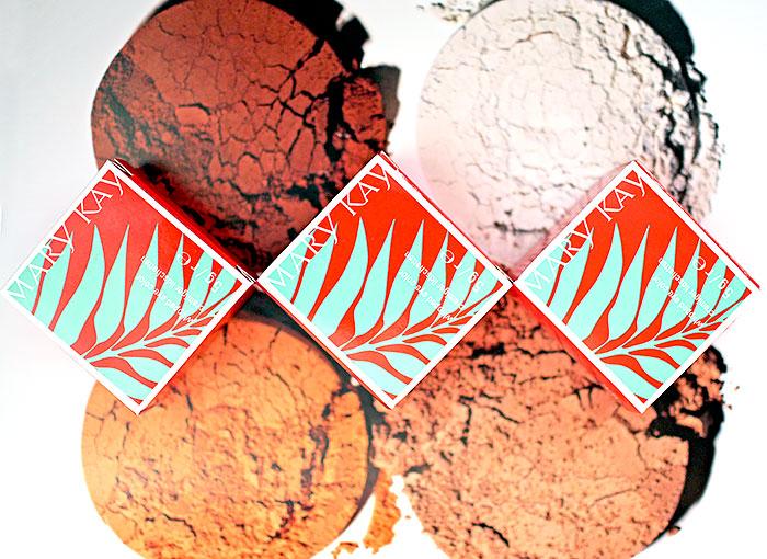 Mary-Kay-Кремовые-тени-для-век-Дивная лагуна-Lagoon-Морская-волна-Seafoam-Золотистый-берег-Tiki-Hut-Отзыв-свотчи-review-swatch