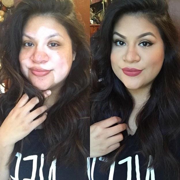 Сила макияжа: как работают плотные текстуры до и после