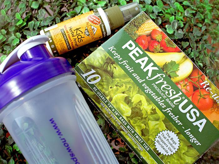 Сезонные продукты на iHerb: спрей от комаров, многоразовые пакеты для овощей и шейкер. Отзыв