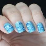 Как сделать маникюр в виде капель – rain drop nails