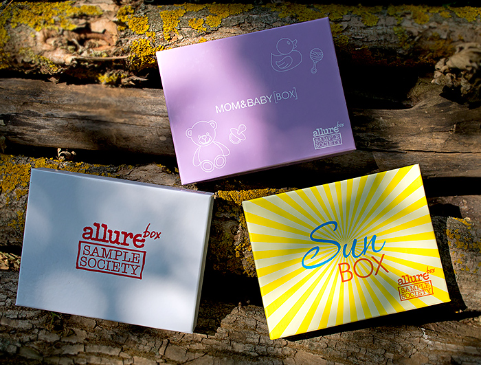 Allurebox 7 июнь, Sunbox, Mom & Baby Box. Отзыв