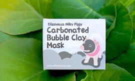 Пузырьковая кислородная очищающая маска Elizavecca, Milky Piggy Carbonated Bubble Clay Mask. Отзыв