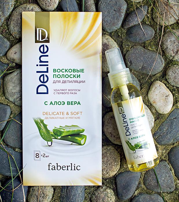 Faberlic - восковые полоски для депиляции и очищающее масло после депиляции. Отзыв