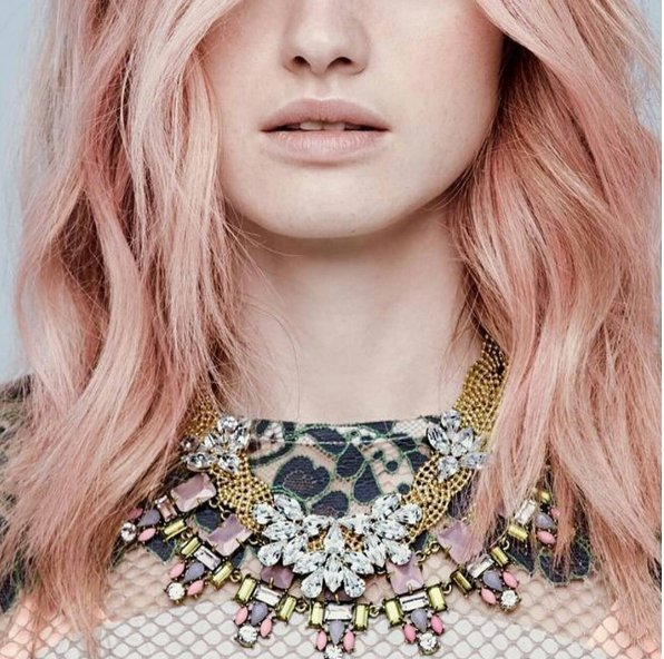 Розовое золото – самый модный оттенок волос осени 2016