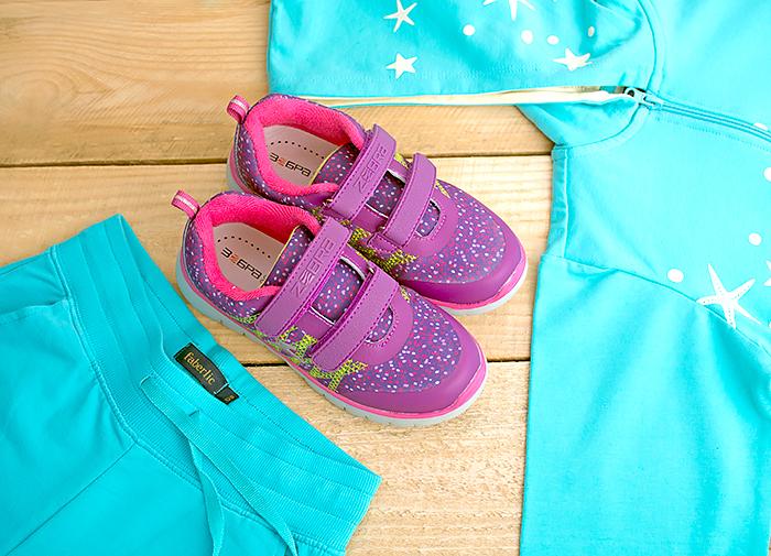 Детская одежда: трикотажная толстовка и брюки от Faberlic и кроссовки от Zebra. Отзыв, фото
