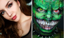 Макияж на Хэллоуин: идеи 2016, фото до и после