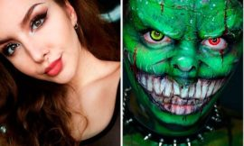 Макияж на Хэллоуин: идеи, фото до и после