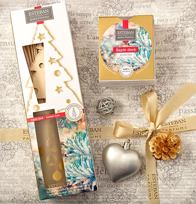 Esteban – ароматическая свеча, деко-букет с ароматом Золотая ель. Отзыв