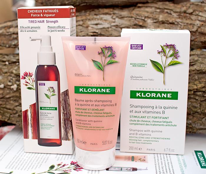 Klorane - укрепляющий шампунь, бальзам и концентрат от выпадения волос с экстрактом хинина. Отзыв