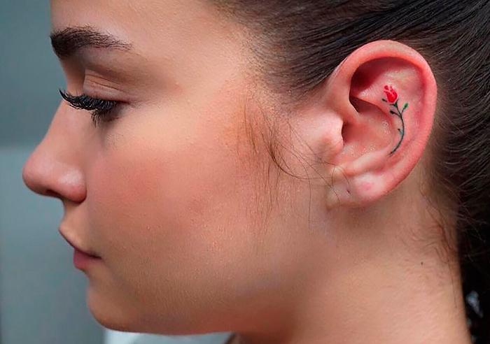 Может ли татуировка на ухе заменить серьги? Несколько идей