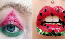 Тренды этого лета: арбузный макияж