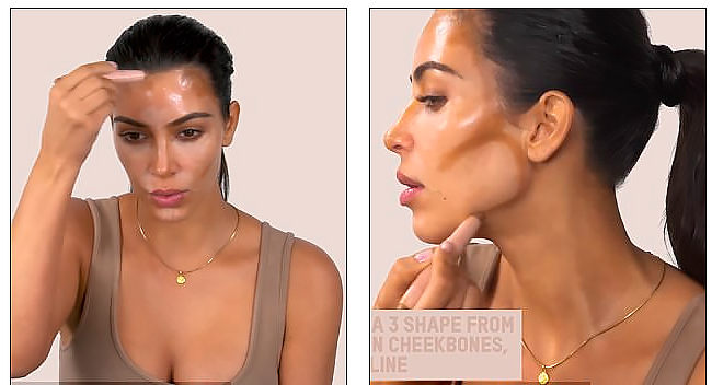Летний урок макияжа от Ким Кардашьян: контурирование и много хайлайта