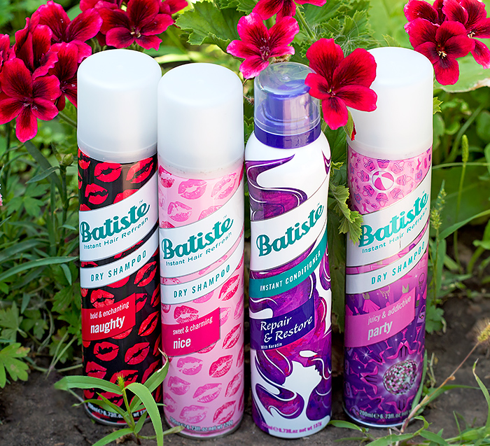 Сухие шампуни Nice, Naughty, Party и сухой кондиционер для волос Batiste. Отзыв