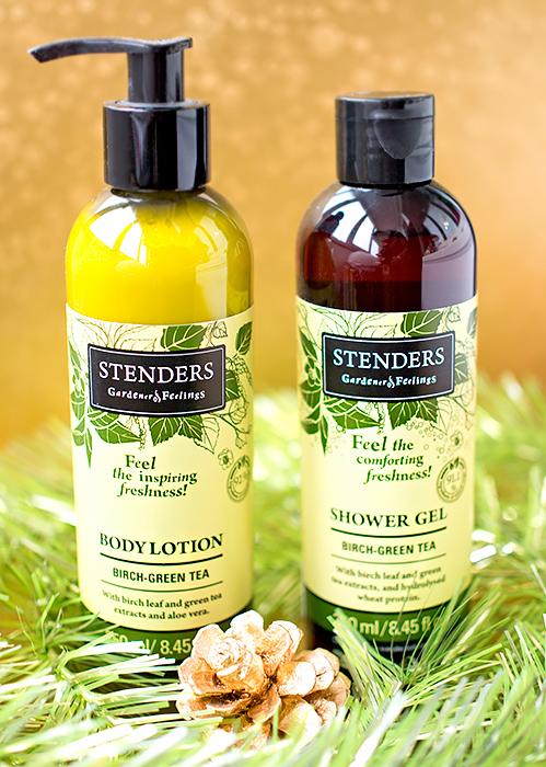 Stenders - гель для душа с экстрактом березовых листьев и зеленого чая и березовый лосьон для тела с экстрактом зеленого чая. Отзыв