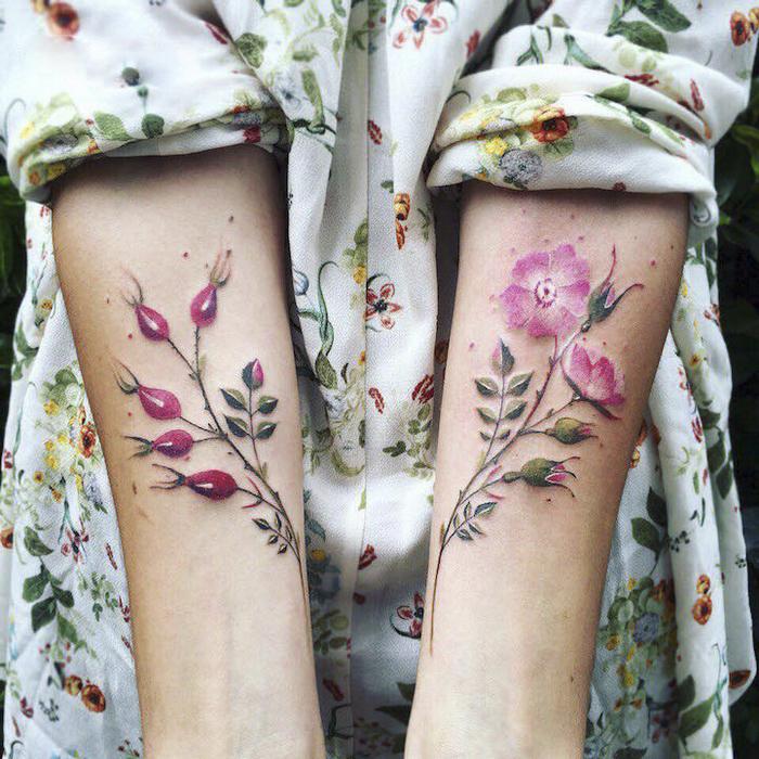 Нежные цветочные татуировки: идеи, эскизы