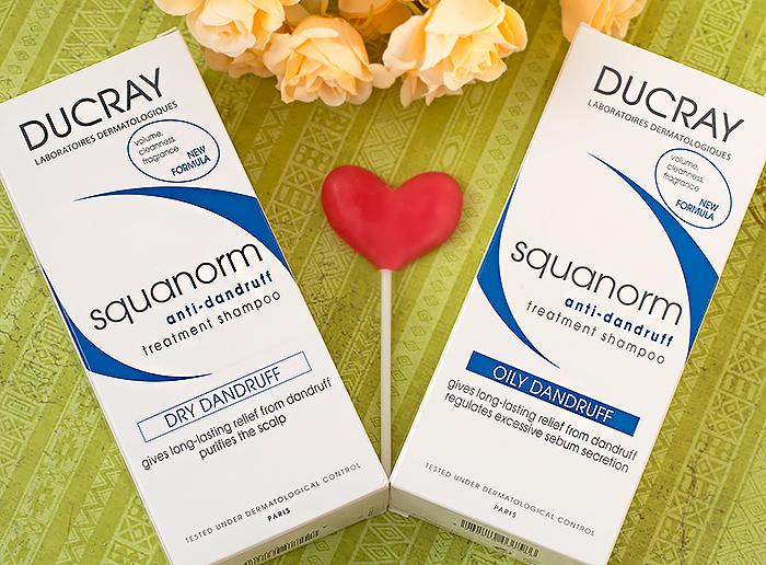 Ducray Squanorm – шампунь от сухой перхоти и шампунь от жирной перхоти. Отзыв, сравнение