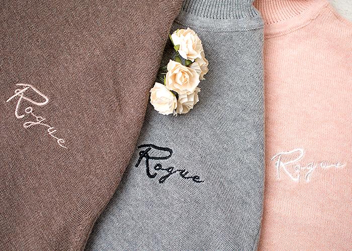 Вязаная водолазка с вышивкой Faberlic: светло-серая, розовая, светло-коричневая. Отзыв