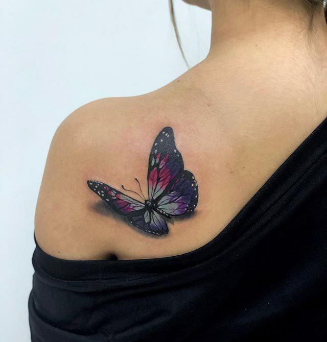 Татуировки 3D-бабочек: подборка вдохновляющих фото