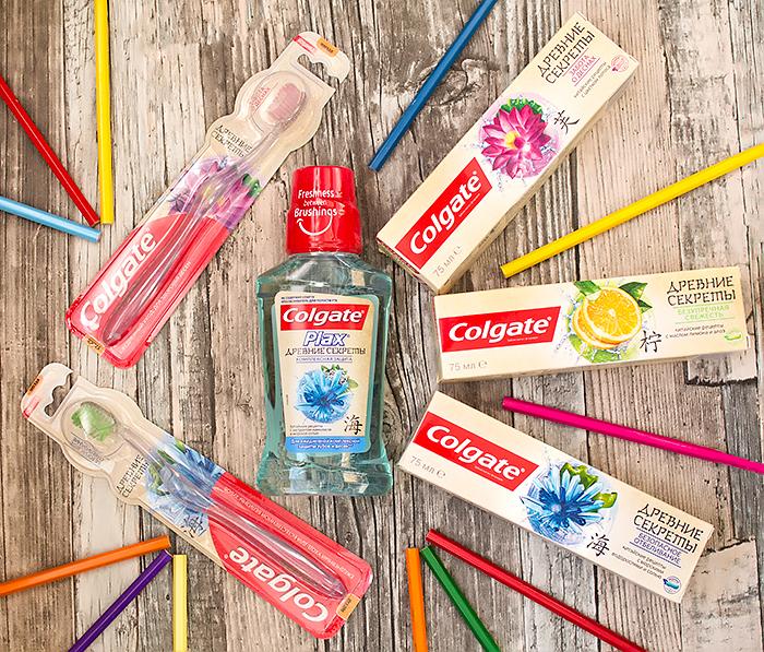 Colgate Древние секреты – зубная паста, ополаскиватель, щетки. Отзыв