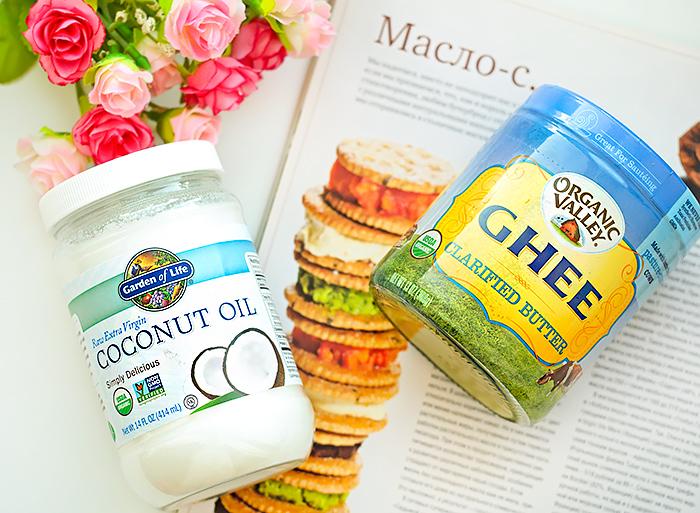 Топленое масло гхи от Organic Valley и кокосовое масло от Garden of Life. Отзыв, сравнение