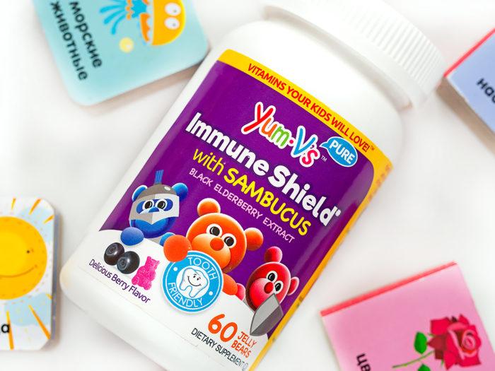 Мармелад с бузиной для детей Yum-V's Immune Shield With Sambucus. Отзыв