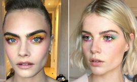 Макияж в стиле Tie-Dye: как повторить образы Кары Делевинь и Люси Бойнтон