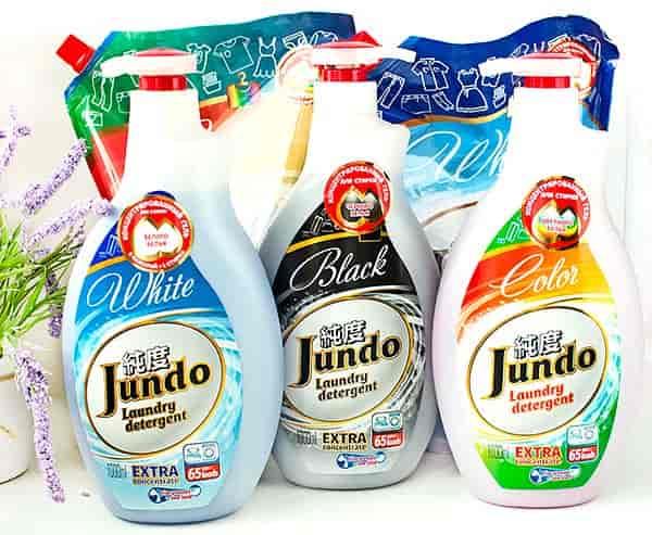 Концентрированный гель для стирки Jundo. Отзыв, сравнение