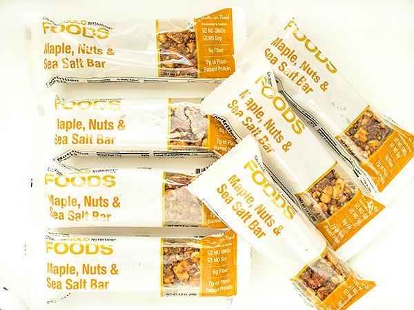 Перекусы California Gold Nutrition Батончики с кленовым сиропом, орехами и морской солью. Отзыв