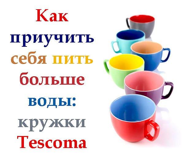 Как пить больше воды: кружки Tescoma