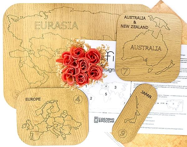 Как просто обновить дизайн квартиры: деревянная карта мира AFI Design. Отзыв